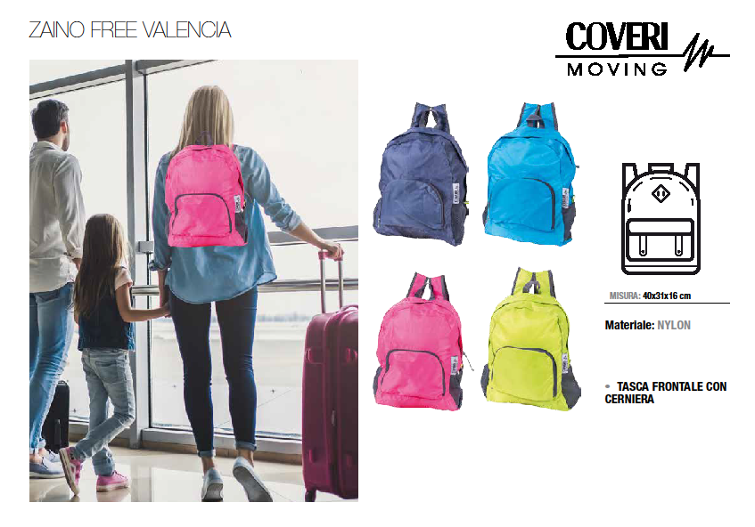 "33637 - Coveri Moving ""Zaino Free Valencia"" Europe"