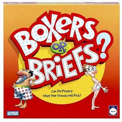 35038 - BOXERS OR BRIEFS HASBRO ADULT PARTY GAME USA