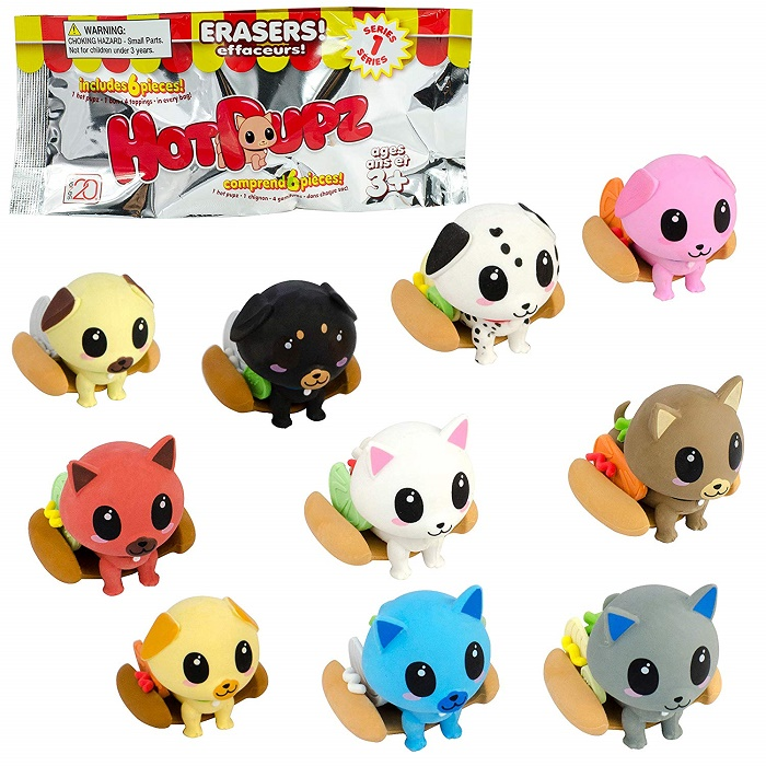 35129 - Hot Pupz Eraser Sets......Cute Item In Blind Bags USA