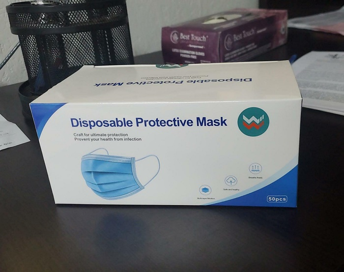 38010 - 3Ply Disposable Protective Mask USA