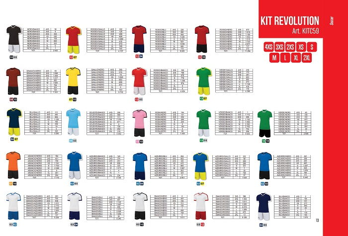 38754 - Kit Revolution soccer set Europe