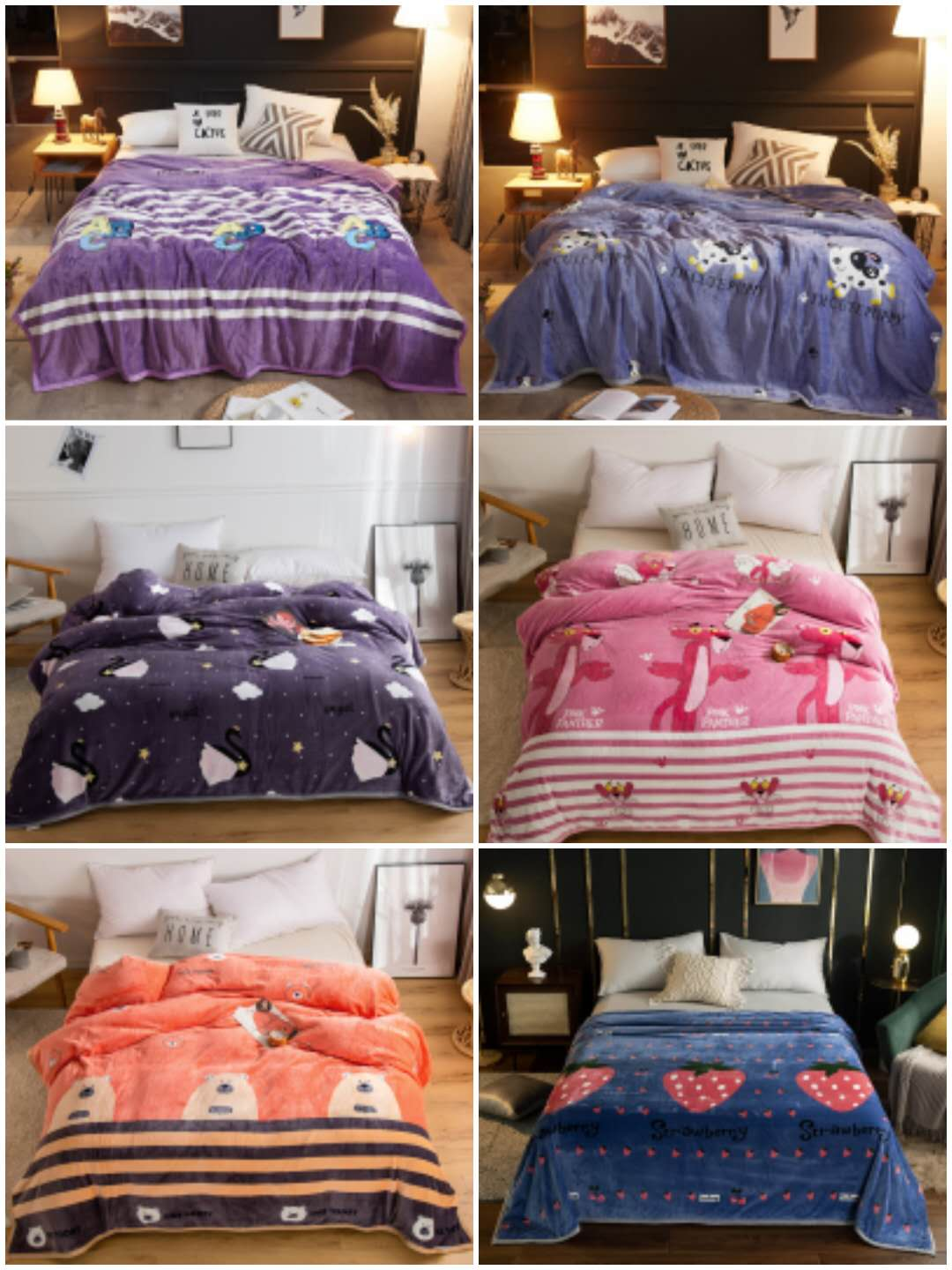 38951 - 24,000 pieces Winter Coral Fleece Printed Blanket China