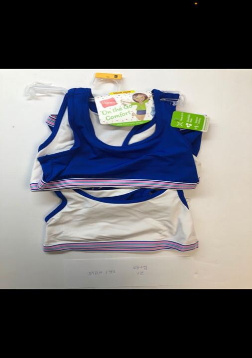 39822 - 2 Pack Hanes Training Bra 1st Quanity On Hanger USA