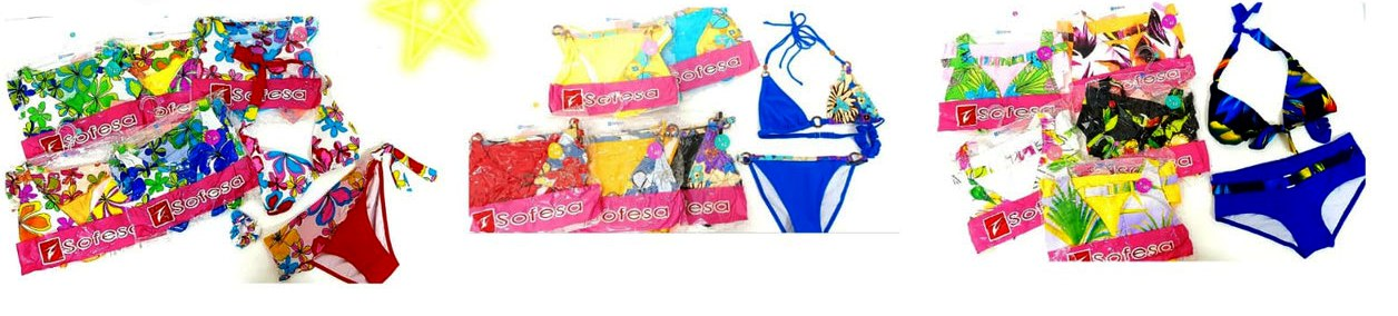 40528 - Beachwear woman line collection stock lot Europe